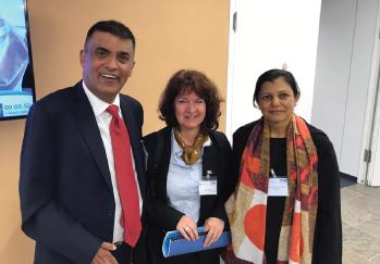 Dr. Raju Mohindra and Mrs. Reema Mohindra At UN Campus, Bonn, Germany